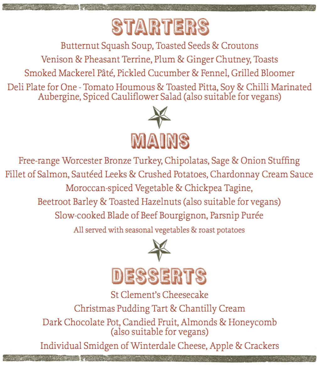 Your Christmas Party or Meal at The Star & Garter, Leamington Spa